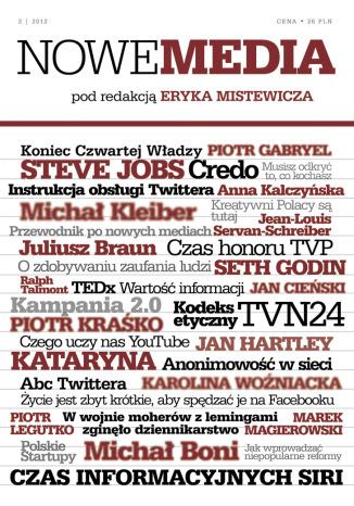 Okładka książki/ebooka NOWE MEDIA pod redakcją Eryka Mistewicza Kwartalnik 2/2012