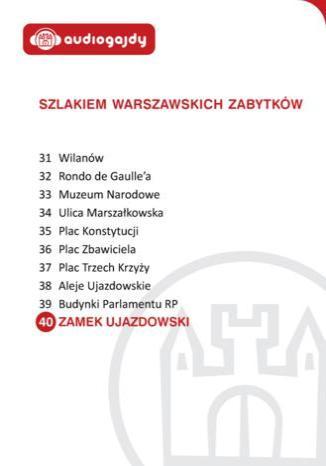 Okładka książki/ebooka Zamek Ujazdowski. Szlakiem warszawskich zabytków