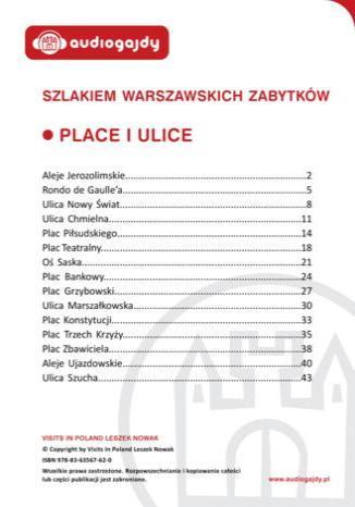 Okładka książki/ebooka Place i ulice. Szlakiem warszawskich zabytków