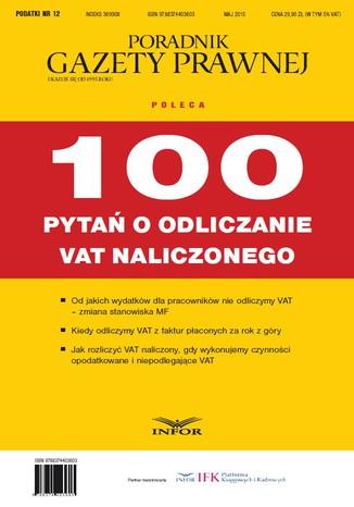 Okładka książki/ebooka 100 pytań o odliczanie VAT naliczonego