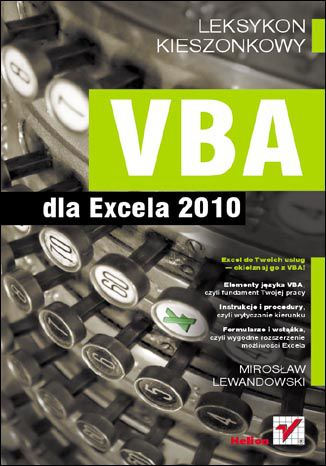 Okładka książki/ebooka VBA dla Excela 2010. Leksykon kieszonkowy