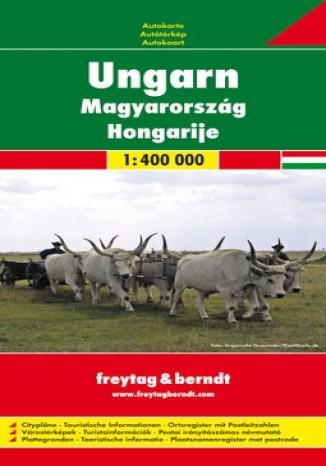 Okładka książki Węgry. Mapa Freytag & Berndt 1:400 000
