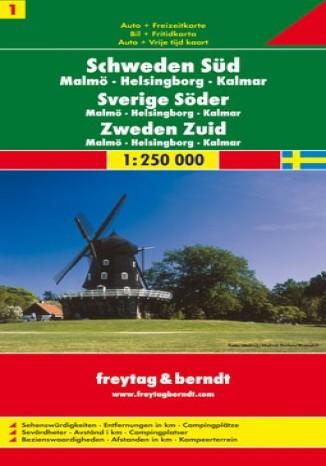 Okładka książki/ebooka Szwecja Południowa (cz.1). Mapa Freytag & Berndt 1:250 000