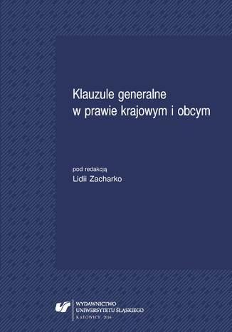 Okładka książki/ebooka Klauzule generalne w prawie krajowym i obcym