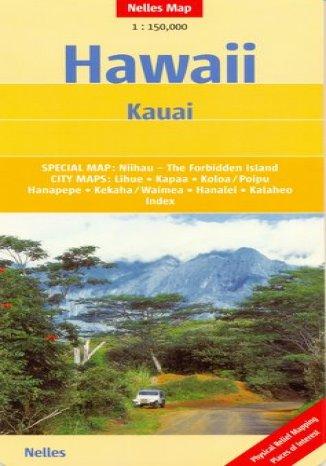 Okładka książki/ebooka Hawaje. Kauai. Mapa