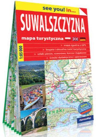 Okładka książki/ebooka Suwalszczyzna papierowa mapa turystyczna 1:85 000