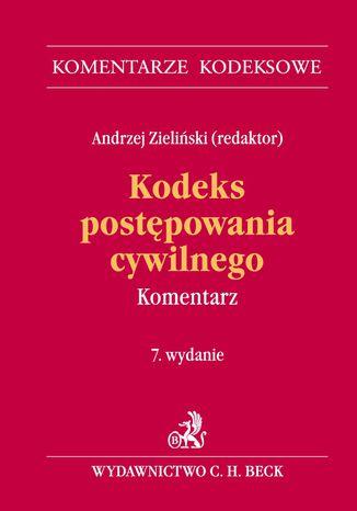 Okładka książki/ebooka Kodeks postępowania cywilnego. Komentarz