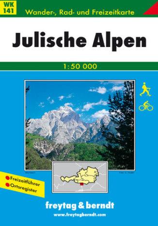 Okładka książki/ebooka Alpy Julijskie. Mapa turystyczna