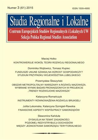 Okładka książki/ebooka Studia Regionalne i Lokalne nr 3(61)/2015