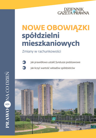 Okładka książki Nowe obowiązki spółdzielni mieszkaniowych
