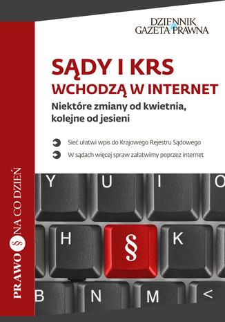 Okładka książki Sądy i KRS wchodzą w internet
