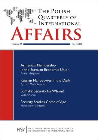 Okładka książki/ebooka The Polish Quarterly of International Affairs nr 4/2015