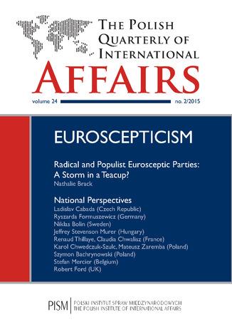 Okładka książki The Polish Quarterly of International Affairs nr 2/2015