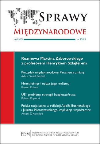 Okładka książki Sprawy Międzynarodowe 4/2014