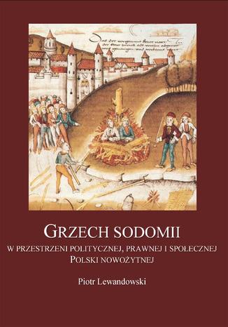 Okładka książki Grzech Sodomii w przestrzeni politycznej, prawnej i społecznej Polski nowożytnej