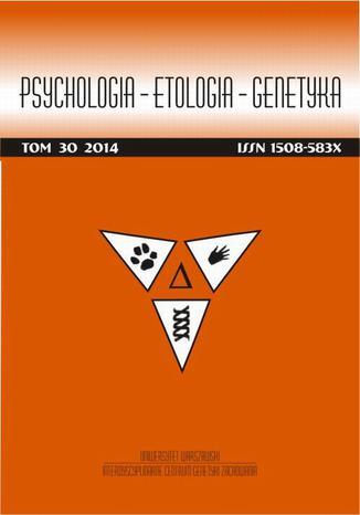 Psychologia-Etologia-Genetyka nr 30/2014 - Daria Dembińska-Krajewska, Janusz Rybakowski: Koncepcja afektywnych typów temperamentu Hagopa Sourena Akiskala