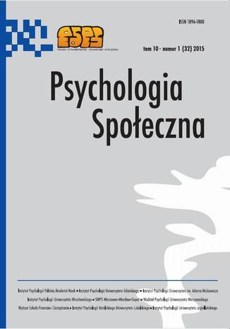 Psychologia Społeczna nr 1(32)/2015 - Katarzyna Szczucka: Nieco danych świadczących o tym, że Dutton i Aron 40 lat temu wykazali niekoniecznie to, co zamierzali