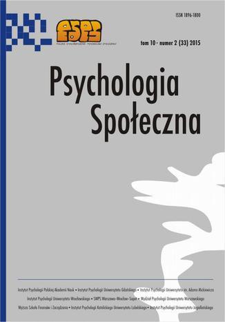 Psychologia Społeczna nr 2(33)/2015 - D. Grabowski, A. Chudzicka-Czupała: Wielowymiarowy profil etyki pracy (WPEP). Charakterystyka psychometryczna polskiej wersji kwestionariusza Multidimensional Work Ethic Profile