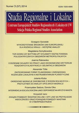 Studia Regionalne i Lokalne nr 3(57)2014 - Przemysław Sadura, Dorota Olko: Interwencja socjologiczna jako odpowiedź na kryzys miasta. Studium przypadku konsultacji w sprawie modernizacji ul. Kawęczyńskiej w Warszawie