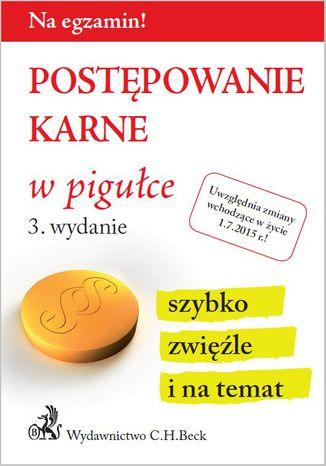 Okładka książki/ebooka Postępowanie karne w pigułce. Wydanie 3