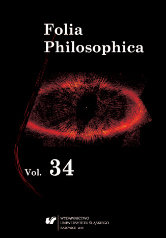 Okładka książki Folia Philosophica. Vol. 34. Special issue. Forms of Criticism in Philosophy and Science