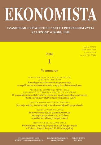 Okładka książki Ekonomista 2016 nr 1