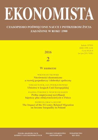 Okładka książki/ebooka Ekonomista 2016 nr 2