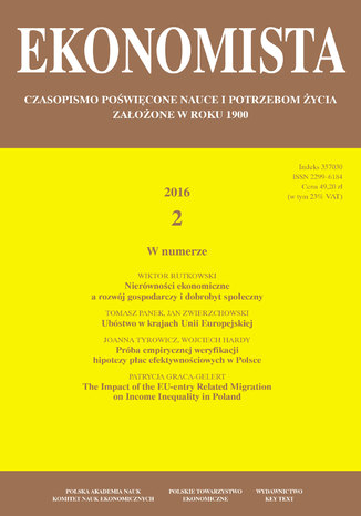 Okładka książki Ekonomista 2016 nr 2