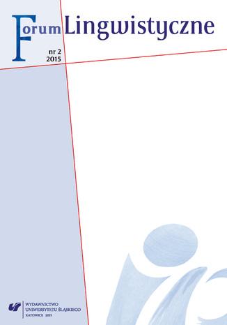 Okładka książki/ebooka 'Forum Lingwistyczne' 2015, nr 2