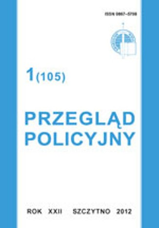 Okładka książki Przegląd Policyjny, nr 1(105) 2012