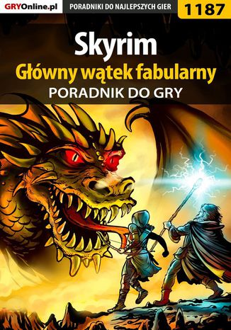 Okładka książki Skyrim - główny wątek fabularny - poradnik do gry