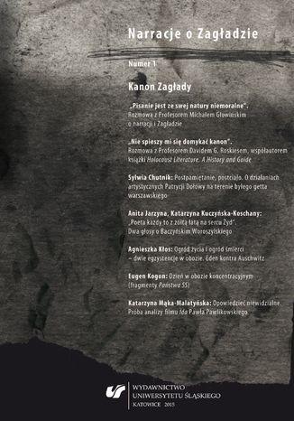 Okładka książki 'Narracje o Zagładzie' 2015, nr 1: Kanon Zagłady