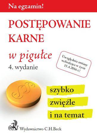 Okładka książki/ebooka Postępowanie karne w pigułce. Wydanie 4
