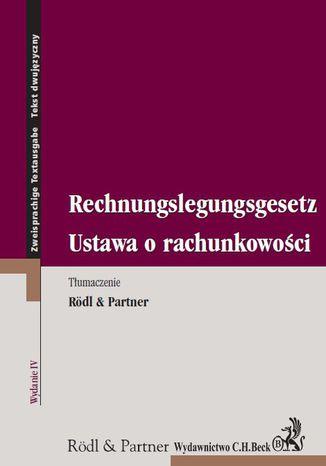 Okładka książki/ebooka Ustawa o rachunkowości. Rechnungslegungsgesetz