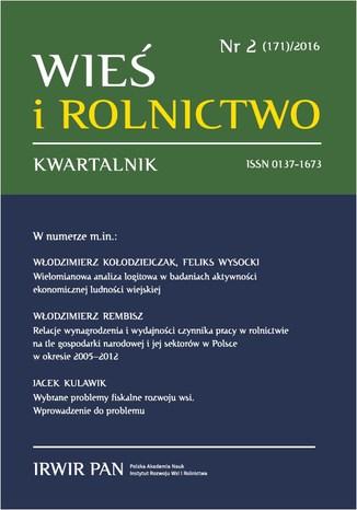 Okładka książki Wieś i Rolnictwo nr 2(171)/2016