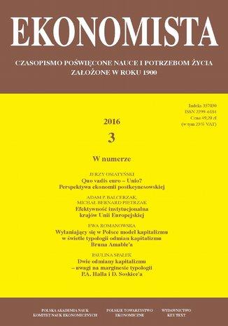Okładka książki Ekonomista 2016 nr 3