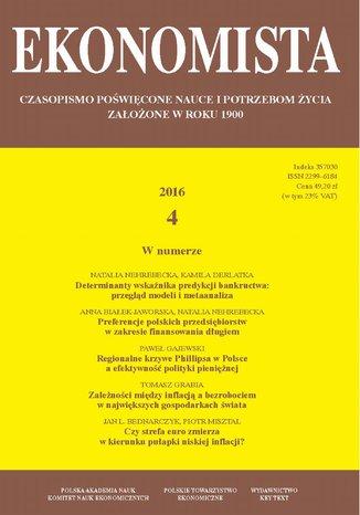 Okładka książki/ebooka Ekonomista 2016 nr 4