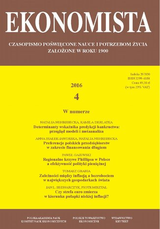 Okładka książki Ekonomista 2016 nr 4
