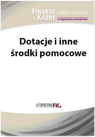 Okładka książki Dotacje i inne środki pomocowe dla NGO