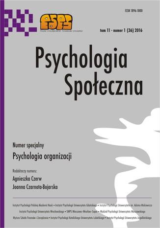 Okładka książki Psychologia Spoleczna nr 1(36)/2016