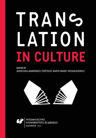 Okładka książki Translation in Culture