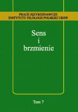 Okładka książki/ebooka Sens i brzmienie