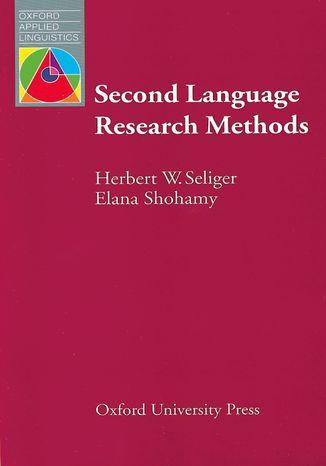 Okładka książki Second Language Research Methods - Oxford Applied Linguistics: