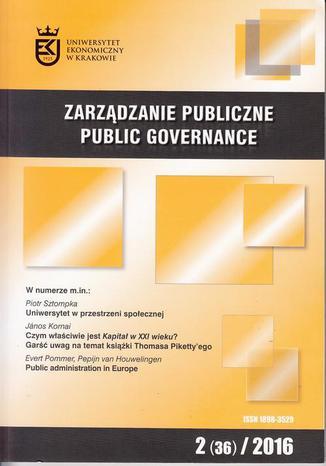Okładka książki Zarządzanie Publiczne nr 2(36)/2016