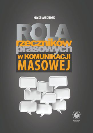 Okładka książki Rola rzeczników prasowych w komunikacji masowej