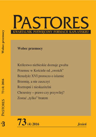 Okładka książki Pastores 73 (4) 2016