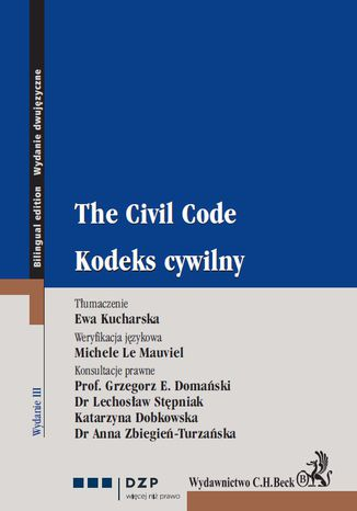 Okładka książki/ebooka Kodeks cywilny. The Civil Code