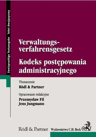 Okładka książki Kodeks postępowania administracyjnego Verwaltungs-verfahrensgesetz