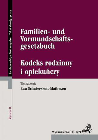 Okładka książki/ebooka Kodeks rodzinny i opiekuńczy/Familien- und Vormundschaftsgesetzbuch