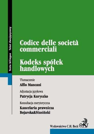 Okładka książki/ebooka Kodeks spółek handlowych. Codice delle societa commerciali